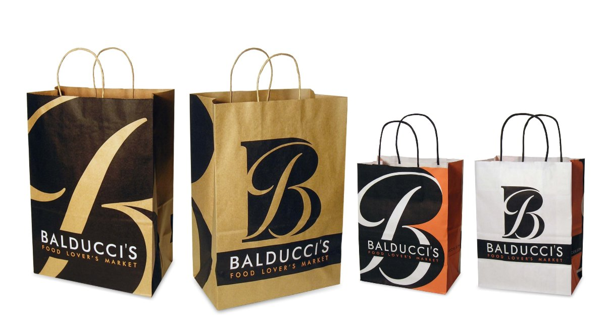Balducci's Food Lover's Market was founded in 1916 in New York City and was one of the first specialty food stores in the United States. Mark Ksiazewski at Centre Street Creative provided design and direction of the comprehensive brand portfolio through two decades of growth, mergers and acquisitions, ten chief executive officers and ten marketing directors. This opening slide shows the design of large and small grocery bags that have complementary but different designs on each side with bold graphics designed specifically to be eye catching across a busy New York street or in any suburban neighborhood. Bold black and white graphic variations of the cursive Balducci B icon create a handsome, special and gift-like style that creates a premium modern cache for avid food lovers.