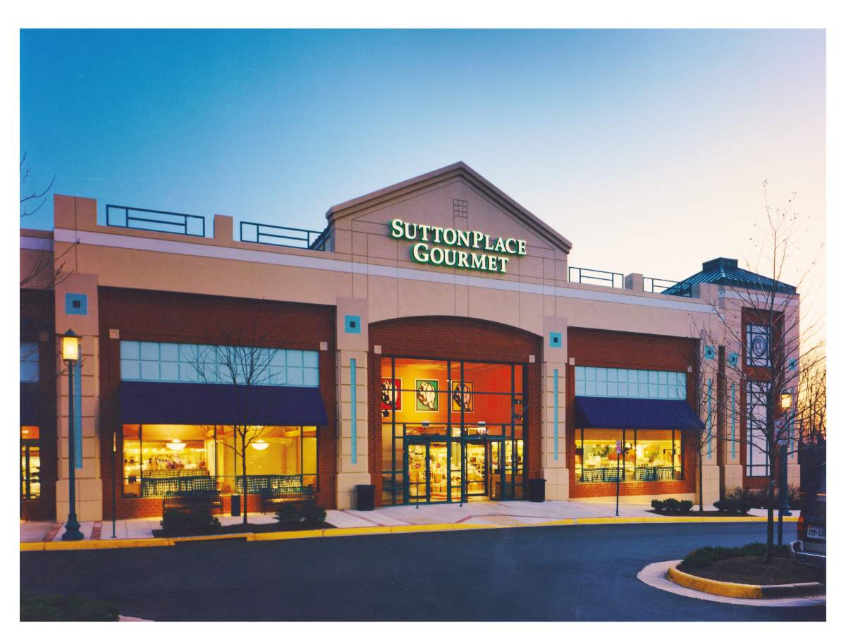 Photo of Sutton Place Gourmet Hayday Market Reston Virginia front facade by Centre Street Creative
